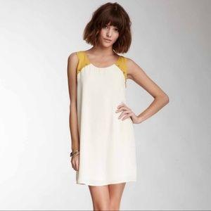 Anthropologie Blu Pepper Cream and Gold Dress